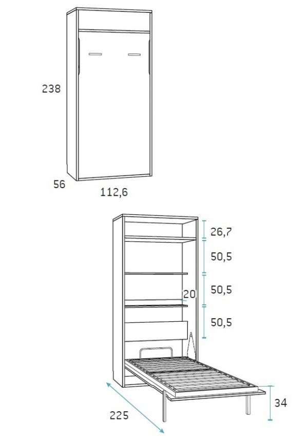 gulta-skapis-mēbeles mājai