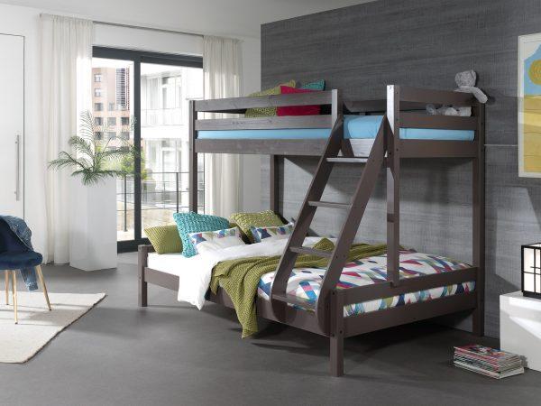 kontraktiniai baldai dviaukštė lova trims