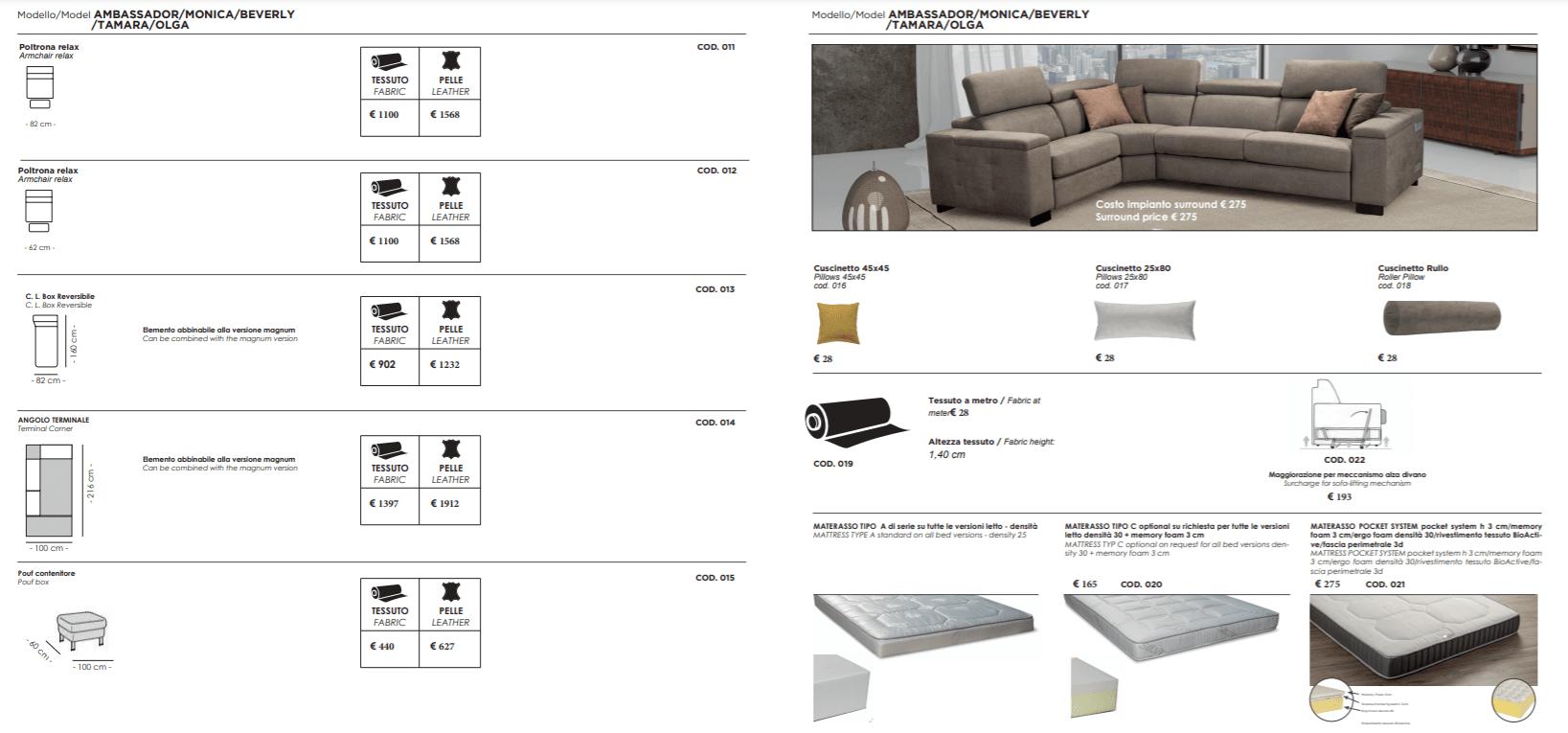 itališki baldai namams monoidėja sofos lovos