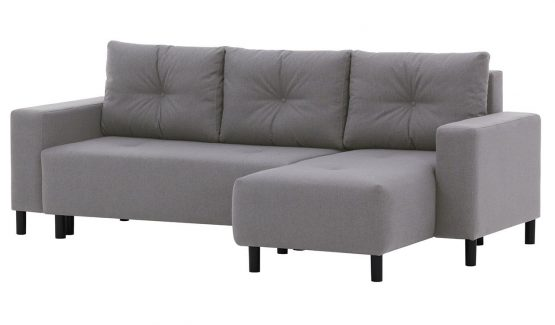 pilka-sofa-lova-kampinė-baldai-namams