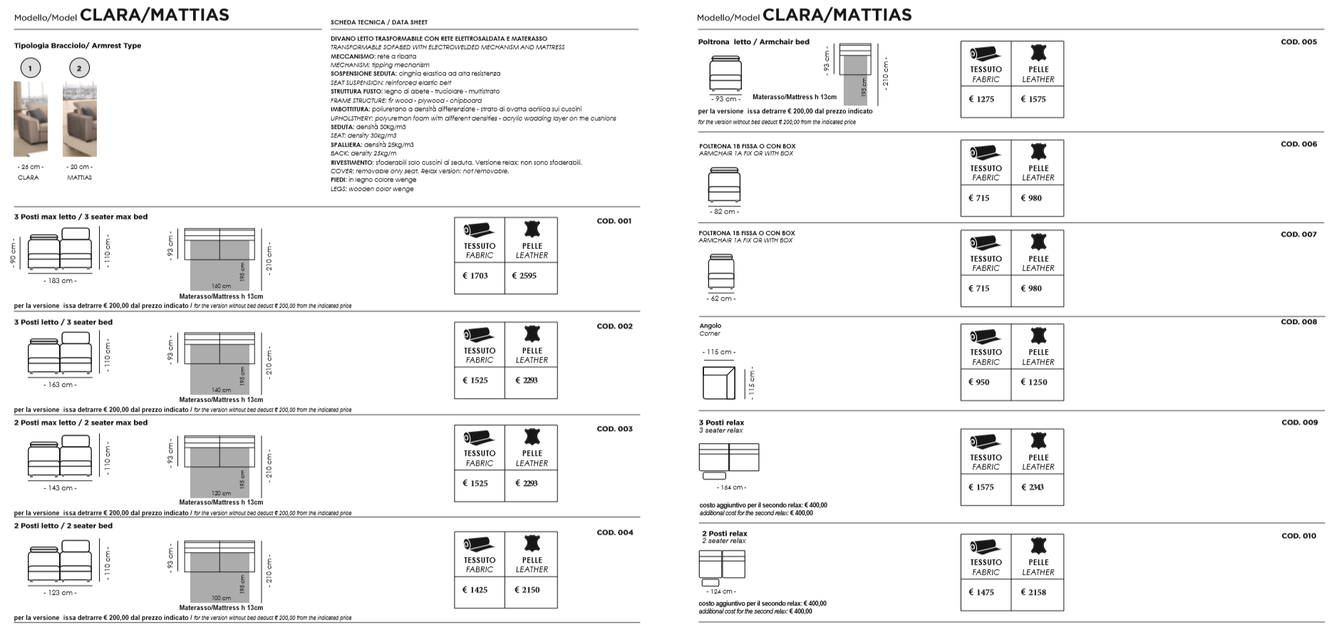 reflex-sofos-clara-charakteristika