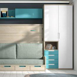 Dvigulė-lova-spintoje-su-sofa