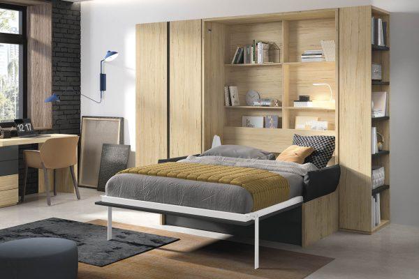 saliekamā gulta-skapis-guļamistaba-istaba