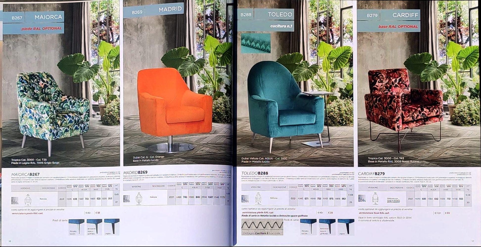 itališki minkšti baldai, foteliai - Monoidėja baldai namams